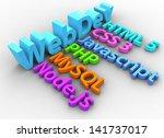website development tools html... | Shutterstock . vector #141737017