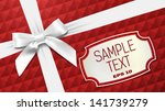 white bow on a red textural... | Shutterstock .eps vector #141739279