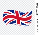 great britain flag isolated....