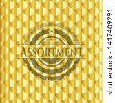 assortment golden emblem or... | Shutterstock .eps vector #1417409291