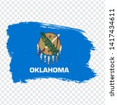 flag of  oklahoma from brush...