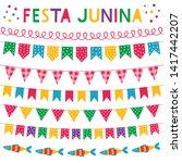 festa junina  brazil june party ... | Shutterstock .eps vector #1417442207