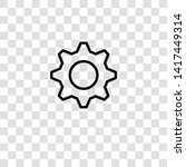 cogwheel icon from seo and... | Shutterstock .eps vector #1417449314