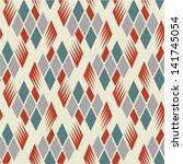 seamless retro diamond pattern 1 | Shutterstock .eps vector #141745054