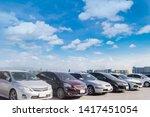 car parking in large asphalt... | Shutterstock . vector #1417451054