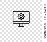 cogwheel icon from seo and... | Shutterstock .eps vector #1417460111