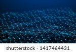 network connection dots and... | Shutterstock . vector #1417464431
