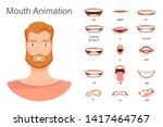 men's lip sync. lip sync... | Shutterstock .eps vector #1417464767