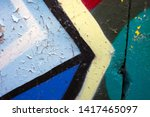 textures and colours of paint...   Shutterstock . vector #1417465097
