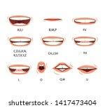 men's lip sync. lip sync... | Shutterstock .eps vector #1417473404