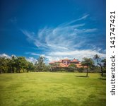 villa in tropical garden | Shutterstock . vector #141747421