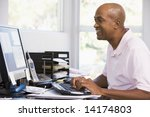 man in home office using... | Shutterstock . vector #14174803