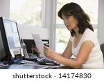 woman in home office with... | Shutterstock . vector #14174830
