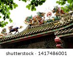 close up architectural detail... | Shutterstock . vector #1417486001