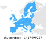 eu map with all member states... | Shutterstock .eps vector #1417499237