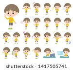 a set of boy with who express... | Shutterstock .eps vector #1417505741