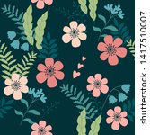 seamless vector elegant pattern ... | Shutterstock .eps vector #1417510007
