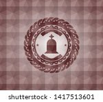 tombstone icon inside red... | Shutterstock .eps vector #1417513601
