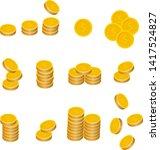 Coins Stack Vector Illustration ...