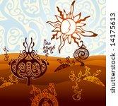 vector fantasy landscape | Shutterstock .eps vector #14175613