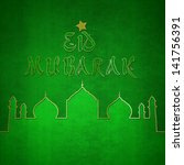 elegant eid greeting... | Shutterstock . vector #141756391