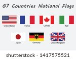 g7 countries national flags... | Shutterstock .eps vector #1417575521