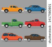 pickup truck vector... | Shutterstock .eps vector #1417580801