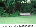 Empty Park Bench In Valley...