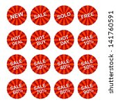 sales sticker tag with... | Shutterstock .eps vector #141760591