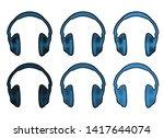 set of blue color music...   Shutterstock .eps vector #1417644074