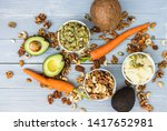 healthy food and dieting... | Shutterstock . vector #1417652981