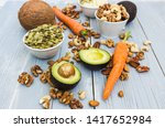 healthy food and dieting... | Shutterstock . vector #1417652984