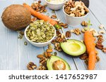 healthy food and dieting... | Shutterstock . vector #1417652987