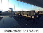 modern airport terminal with... | Shutterstock . vector #141765844