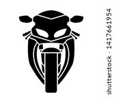 Motorcycle Icon Front View....