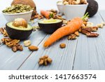 healthy food and dieting... | Shutterstock . vector #1417663574