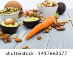 healthy food and dieting... | Shutterstock . vector #1417663577