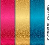 vector colorful metal textures | Shutterstock .eps vector #141766897
