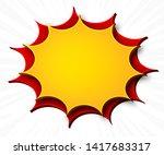 comics background. cartoon... | Shutterstock .eps vector #1417683317