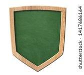 green blackboard with defense... | Shutterstock . vector #1417686164