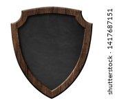blackboard with defense... | Shutterstock . vector #1417687151