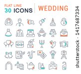 set of vector line icons of... | Shutterstock .eps vector #1417687334