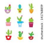 cactus plant vector
