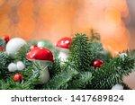 beautiful festive arrangement... | Shutterstock . vector #1417689824