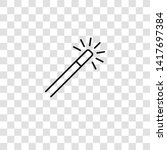 magic wand icon from magic...   Shutterstock .eps vector #1417697384