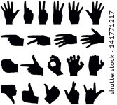 hand collection   vector... | Shutterstock .eps vector #141771217