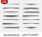 vector shadows set. page...   Shutterstock .eps vector #1417715057