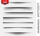 vector shadows set. page... | Shutterstock .eps vector #1417715177