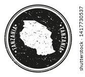 tanzania africa. map symbol... | Shutterstock .eps vector #1417730537