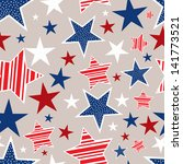 seamless pattern for 4th of... | Shutterstock .eps vector #141773521